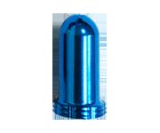 鋁合金法式氣嘴蓋(藍)