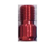 鋁合金氣嘴轉接頭(紅)