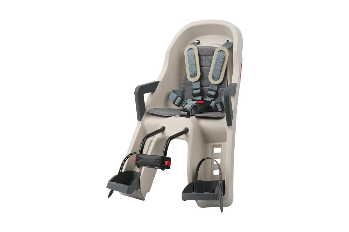 Polisport Guppy Mini 前座型嬰幼兒座椅(奶油/灰)