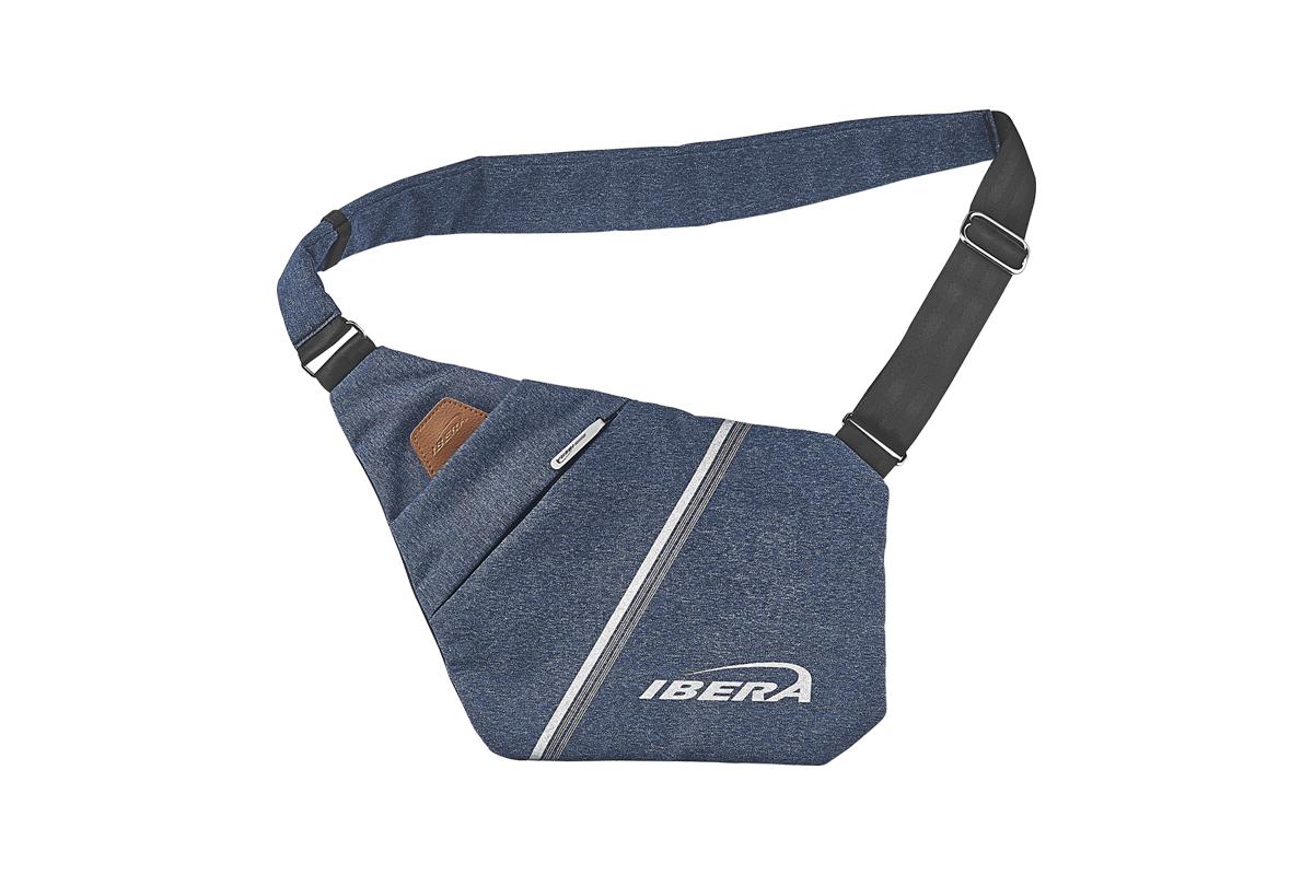 IBERA 超薄貼身斜背包(藍)