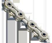 YBN 9速輕量化自動潤滑鏈條(銀)